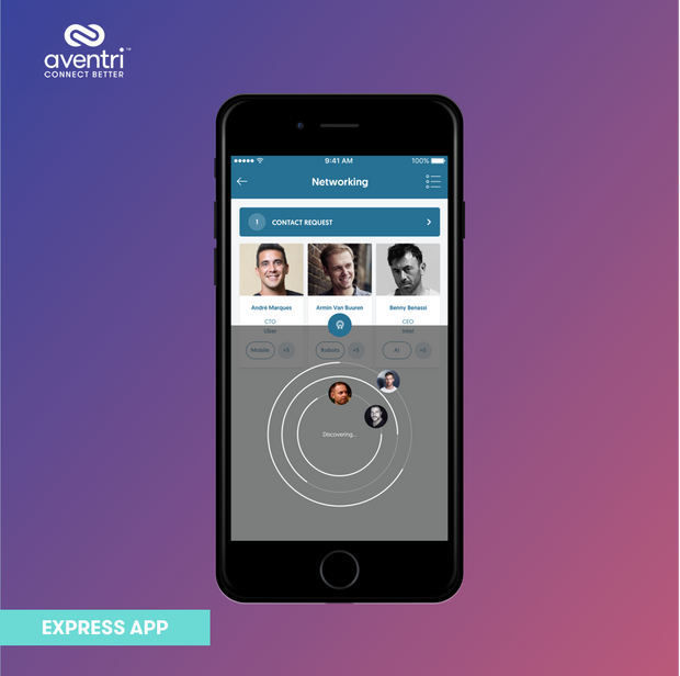 The Express App has the smartest networking to match nearby attendees.