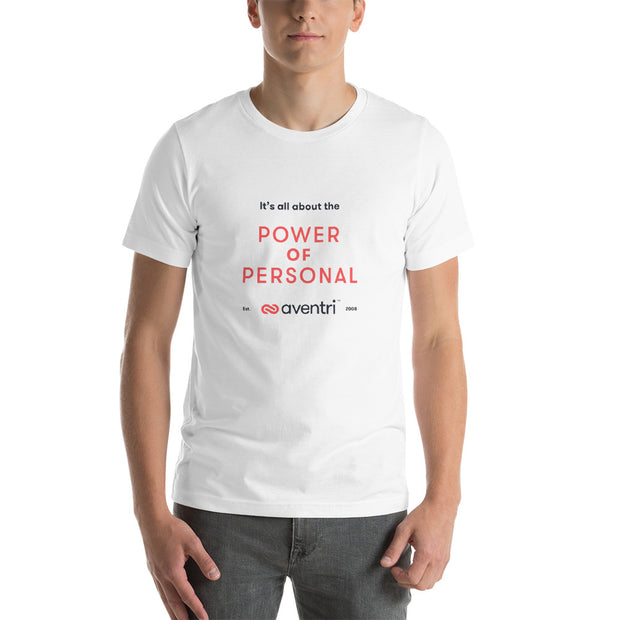 Aventri Red/Black Power of Personal Short-Sleeve Unisex T-Shirt