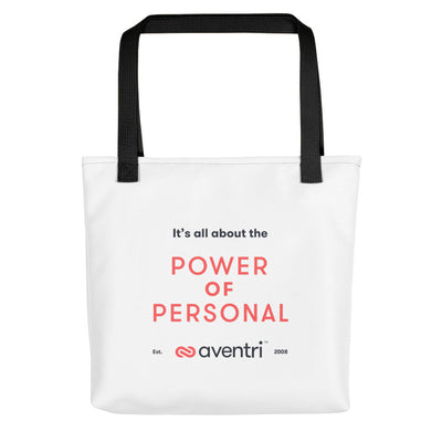 Aventri Red/Black Power of Personal Tote bag