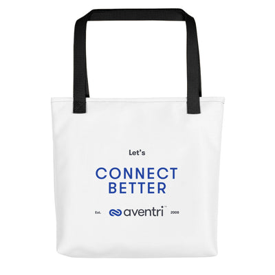 Aventri Blue/Black Connect Better Tote bag