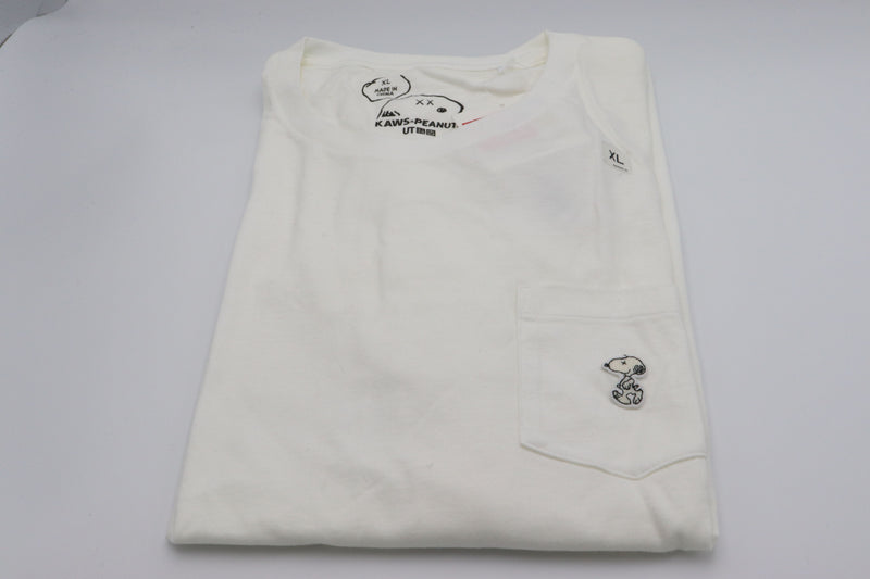 KAWS x Uniqlo x Peanuts Snoopy Pocket Tee White