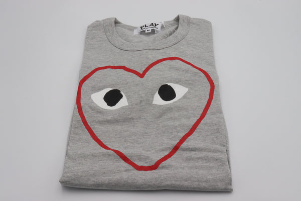 CDG Play Tee Outline Gris