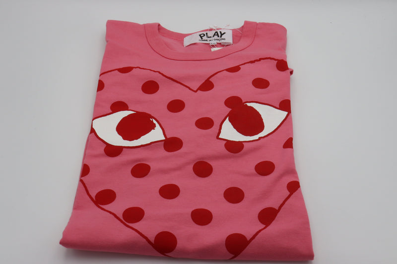 CDG Play Tee Polka Dot Rosa