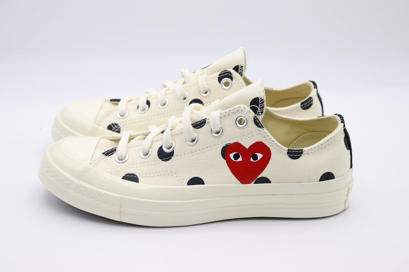 Converse Chuck Taylor All-Star 70s Ox Comme des Garcons PLAY Polka Dot White