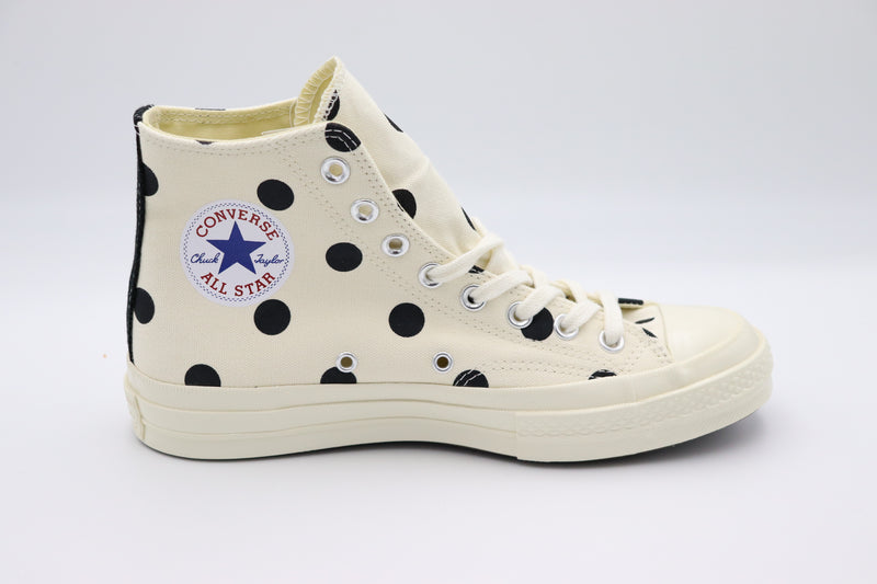 Converse Chuck Taylor All-Star 70s Hi Comme des Garcons PLAY Polka Dot White