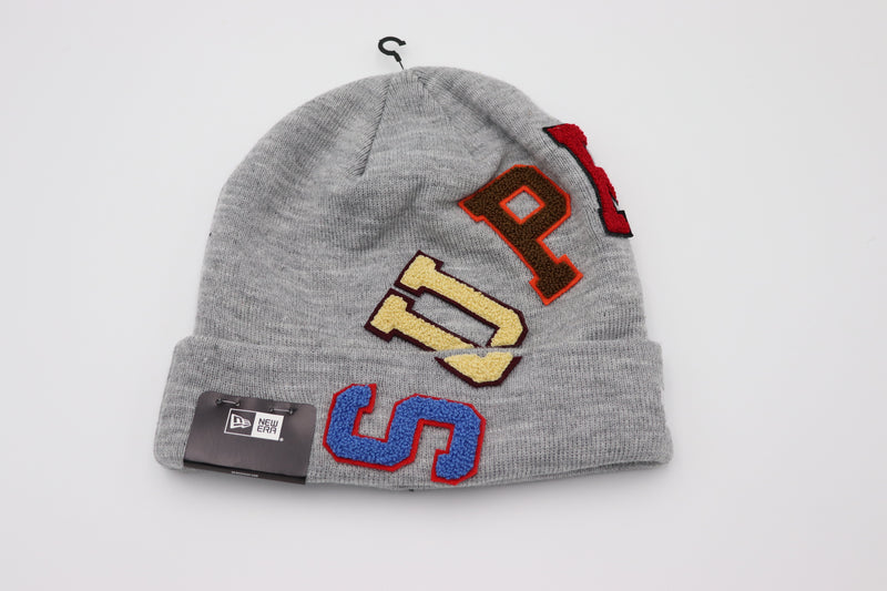 Supreme New Era Big Arc Beanie Heather Grey