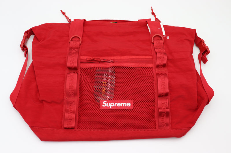 Supreme Zip Tote Dark Red