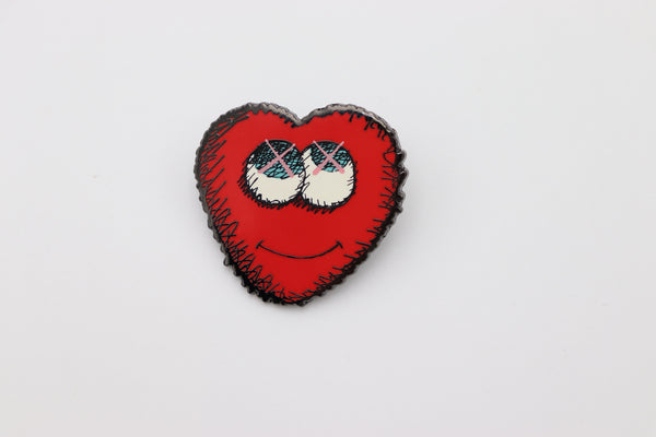 Kaws Heart Pin