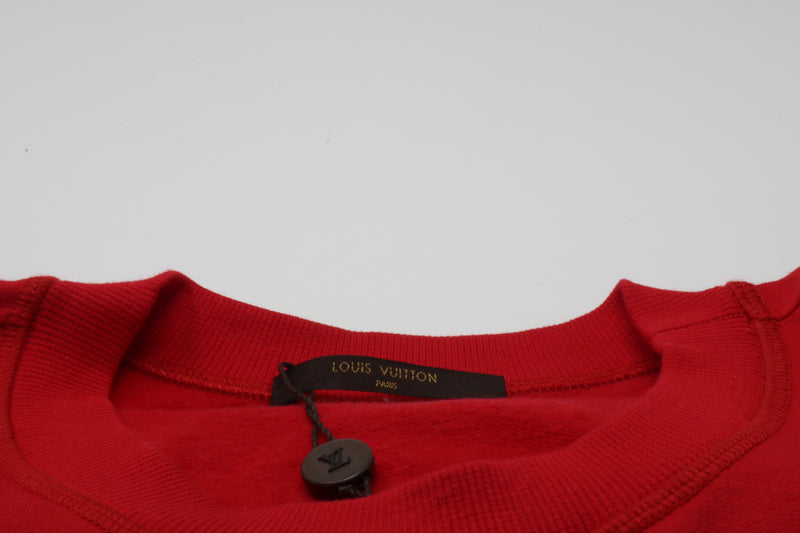 Supreme x Louis Vuitton Arc Logo Crewneck Red