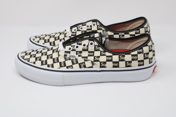 Vans Authentic Supreme Black Checker Logo