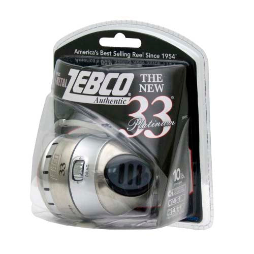 Zebco 33 Platinum spin cast Fishing Reel 33KPL 10C BX6