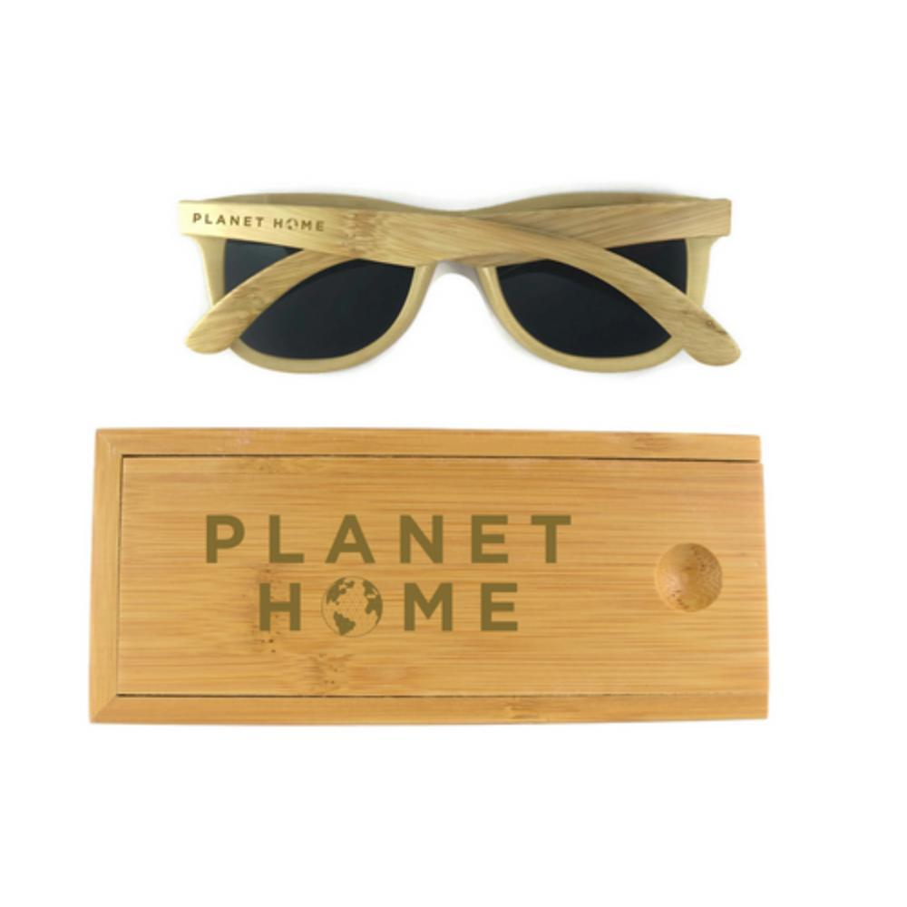 Sunglasses - Bamboo Case - 'Planet Home Design'