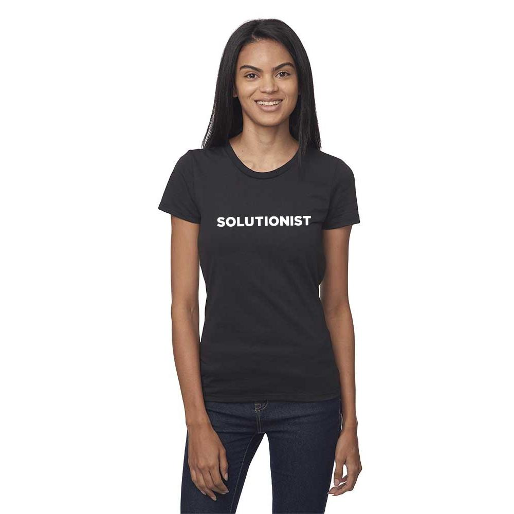 Women's SS Tee - Shadow Black - 'Solutions Design'