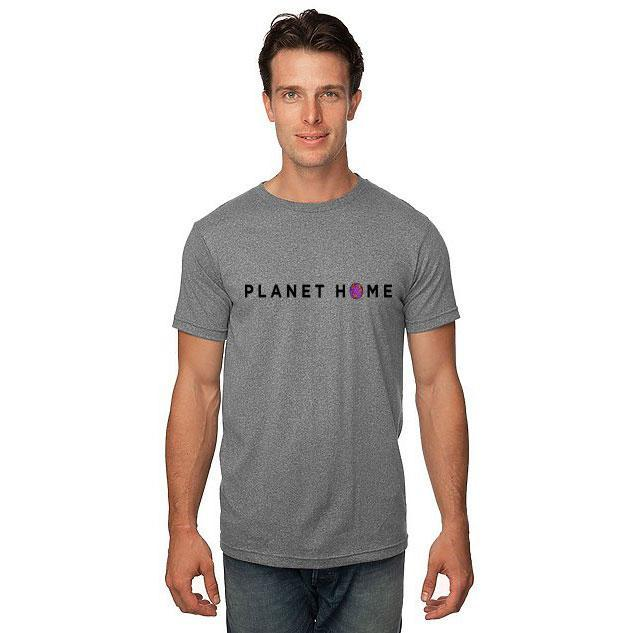 Men's SS Tee - Heather Dusk Grey - 'Planet Home Design'