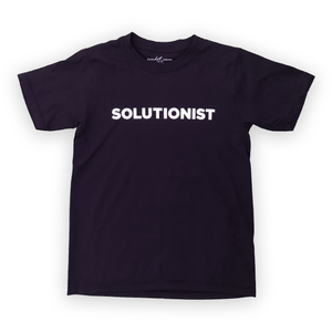 Purple T-shirt Solutionist Plain
