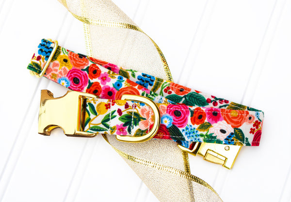 Summer Floral Dog Collar | Summer Floral Cat Collar