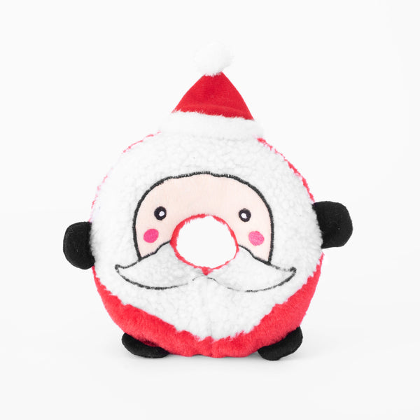 Santa Holiday Donutz Buddy Dog Toy