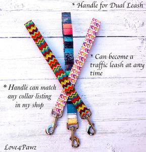 Dog Leash - Service Dog Leash - Service Dog - Dog Leash Handle - Hybrid Leash - Traffic Leash - Safety Leash - Dual Functioning Leash