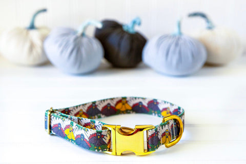 Thanksgiving Collar - Turkey Dog Collar - Strong Dog Collar - Autumn Dog Collar - Fall Cat Collar - Dog Accessories - Engraved Pet ID