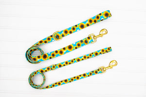 Sunflower Dog Leash - Autumn Dog Leash - Dog Leash - Strong Dog Lead - New Dog Gift - Durable Dog Leash - Webbing Leash - Fall Dog Leash