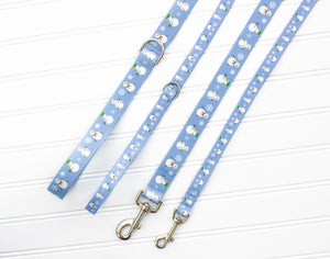 Snowman Dog Leash - Winter Leash - Strong Dog Leash - Durable Dog Leash - Webbing Leash - Nylon Dog Leash - Holiday Dog Leash