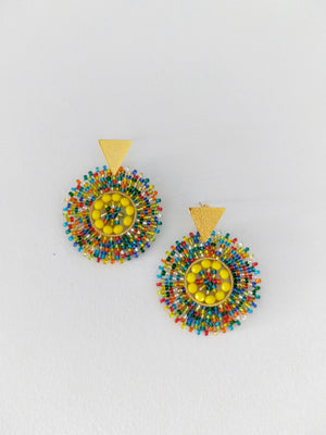 Rainbow Petite-Earrings-Colombian Label Co.