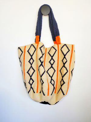 Boho style XL Mochila handbag ( Trenzas )-Mochilas-Colombian Label Co.