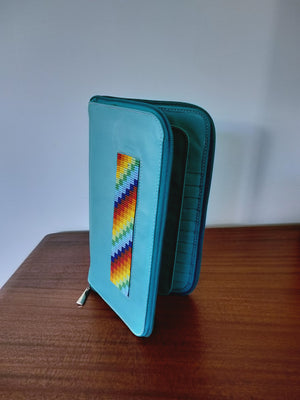 Wallet ( Aqua )-Wallets ( W )-Colombian Label Co.