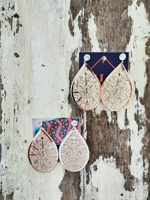 Earrings (bronze mantra)-Earrings-Colombian Label Co.