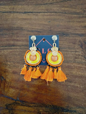 Ethnic tassel earrings-Earrings-Colombian Label Co.