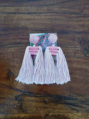 Body tassel earrings-Earrings-Colombian Label Co.
