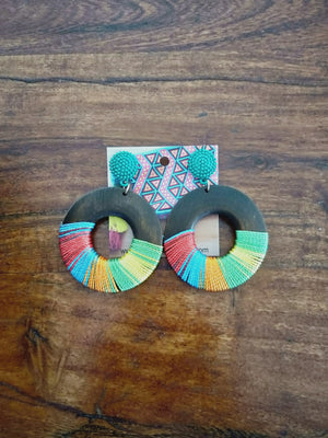 Wooden earrings-Earrings-Colombian Label Co.