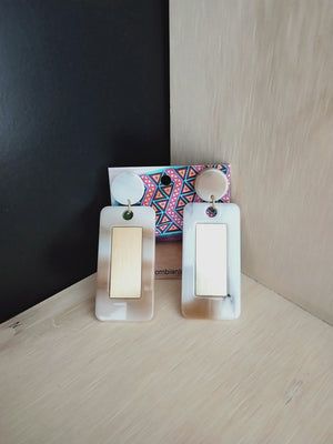 Earrings ( geometricos rectangulos )-Earrings-Colombian Label Co.