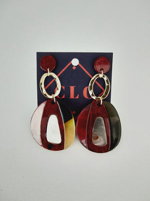 Earrings ( ovalo )-Earrings-Colombian Label Co.