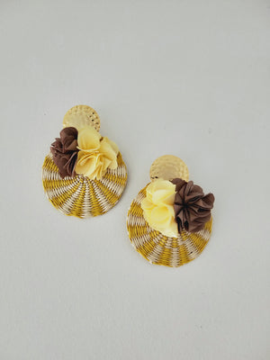 Iraca Flor-Earrings-Colombian Label Co.