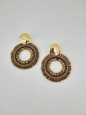 Earrings ( XL Mandala )-Earrings-Colombian Label Co.