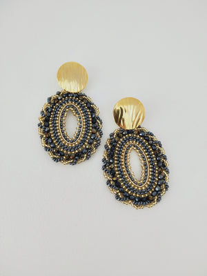 Earrings ( Ovalado L )-Earrings-Colombian Label Co.