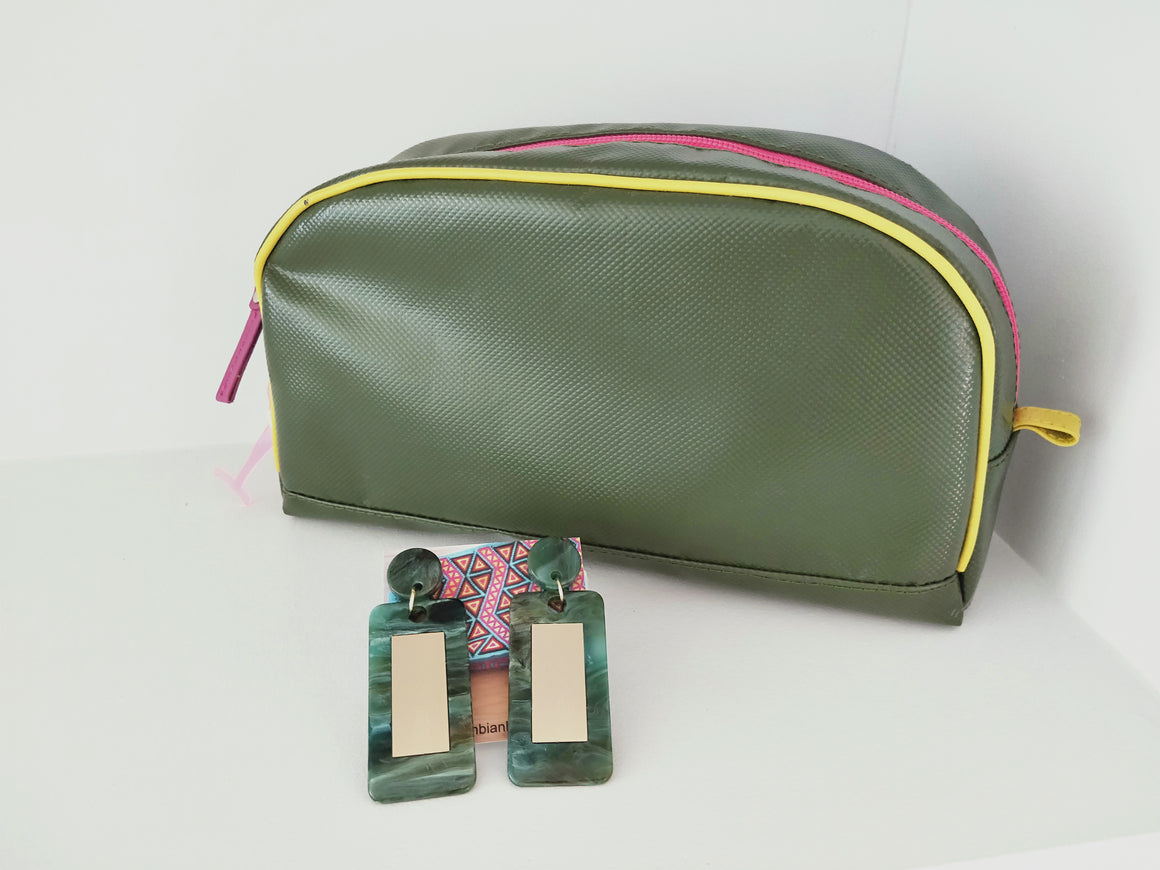 Toiletry bag and earrings-under $100-Colombian Label Co.