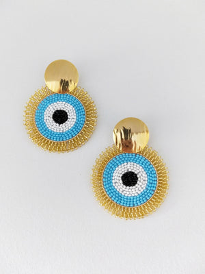 Evil Eye-Earrings-Colombian Label Co.