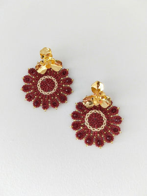 Mandala Flor-Earrings-Colombian Label Co.