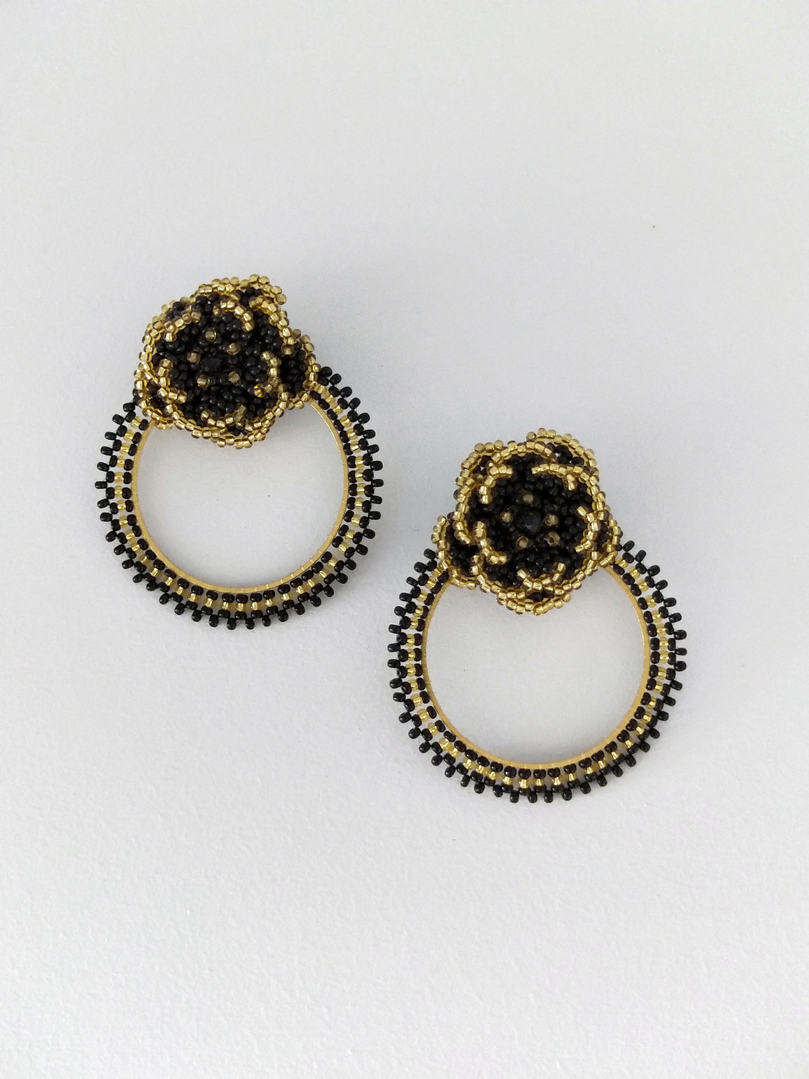 Hoop Flor-Earrings-Colombian Label Co.