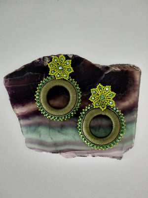 Tejido flor-Earrings-Colombian Label Co.