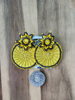 Iraca flor earrings-Earrings-Colombian Label Co.