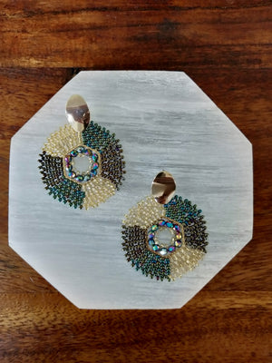 Rombo earrings-Earrings-Colombian Label Co.