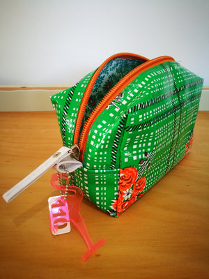 Vinyl Makeup Bag (GABI)-TOILETRY BAG-Colombian Label Co.
