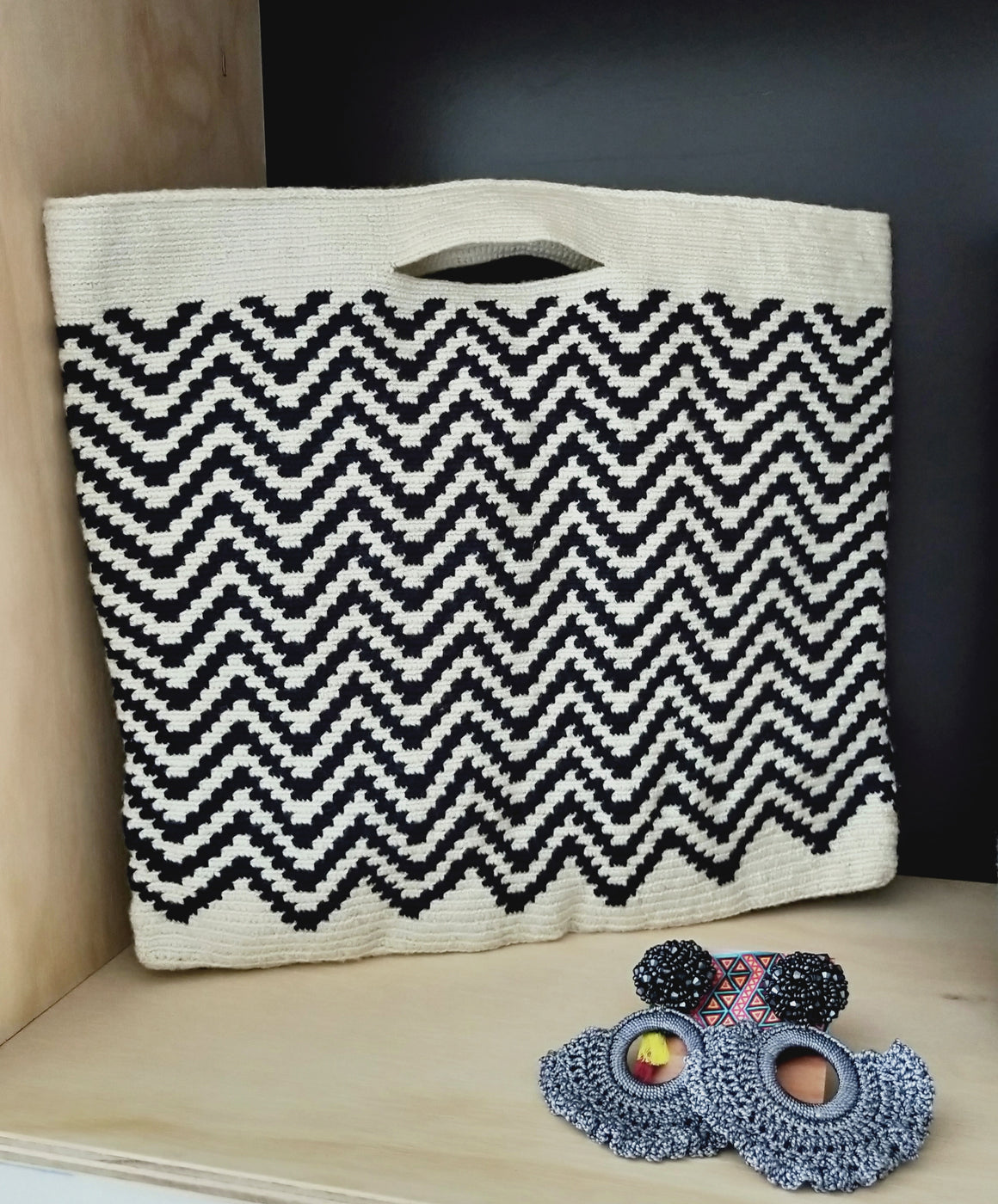 Chevron large clutch-CLUTCH-Colombian Label Co.