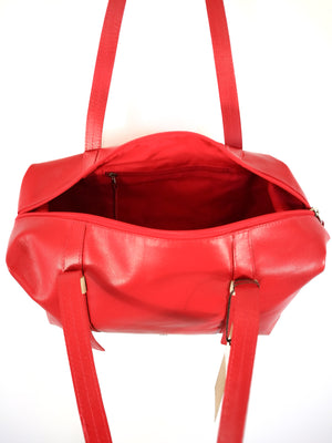 Red Leather Handbag ( BOWLING FEM COCODRIL )-Handbags-Colombian Label Co.