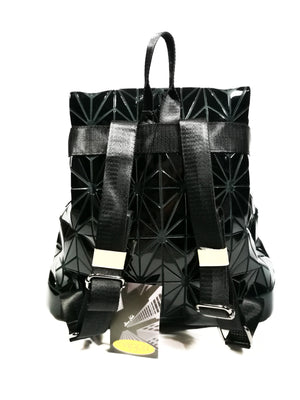 Bronze PU Geometric Backpack-Handbags-Colombian Label Co.