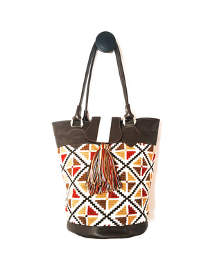 Shoulder Handbag ( NATURAL )-Handbags-Colombian Label Co.