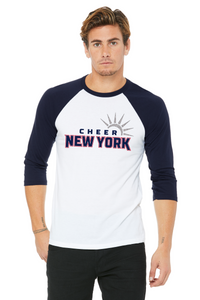Cheer New York Unisex Baseball Tee